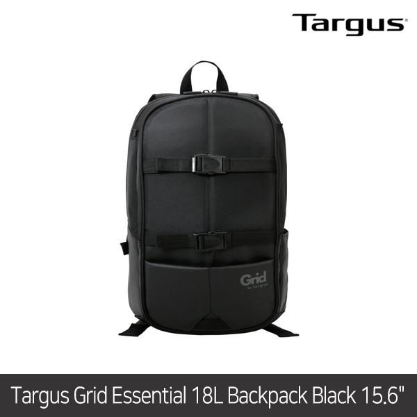[타임세일~09/19까지]  타거스 백팩 Grid Essential 18L Backpack Black 15.6
