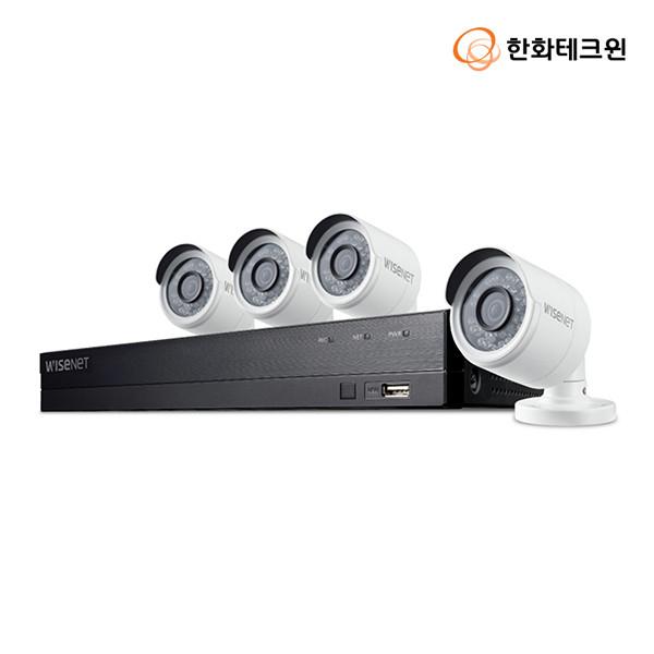 한화테크윈 와이즈넷 자가설치 8채널 CCTV 세트 SDH-B74043BF