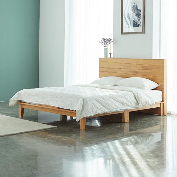 북유럽풍~ 그웬 고무나무 원목 침대프레임