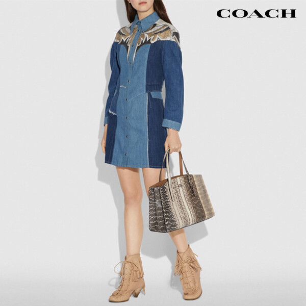 Coach 코치 Charlie Carryall In Ombre Snakeskin 토트백