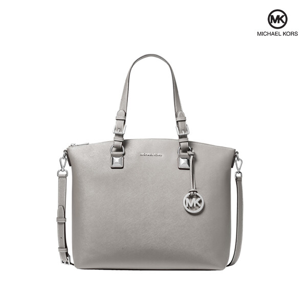 Michael Kors 마이클 코어스 Karla Large Multi function Leather Tote 토트백 (Pearl Grey)