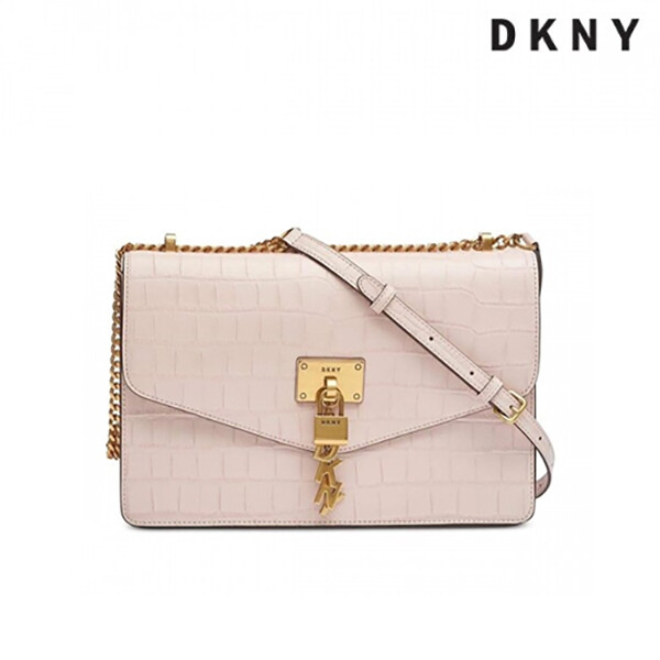 DKNY 디케이엔와이 Elissa Croc-Embossed Shoulder Bag Pink 숄더백