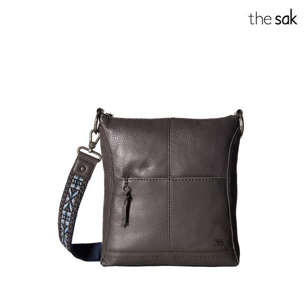 The Sak 더삭 Lucia Leather Crossbody 크로스백 (Brown)