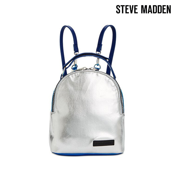 Steve Madden 스티브 매든 Snack Lunch Backpack 백팩 (Silver Blue)