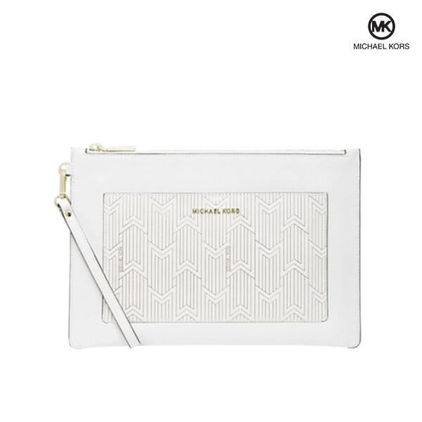 Michael Kors 마이클 코어스 Large Pocket Sip Pouch 파우치백 (White)