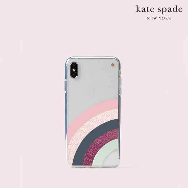 [타임세일~09/21까지]  Kate Spade 케이트 스페이드 Glitter Rainbow 아이폰 XS max 전용 케이스