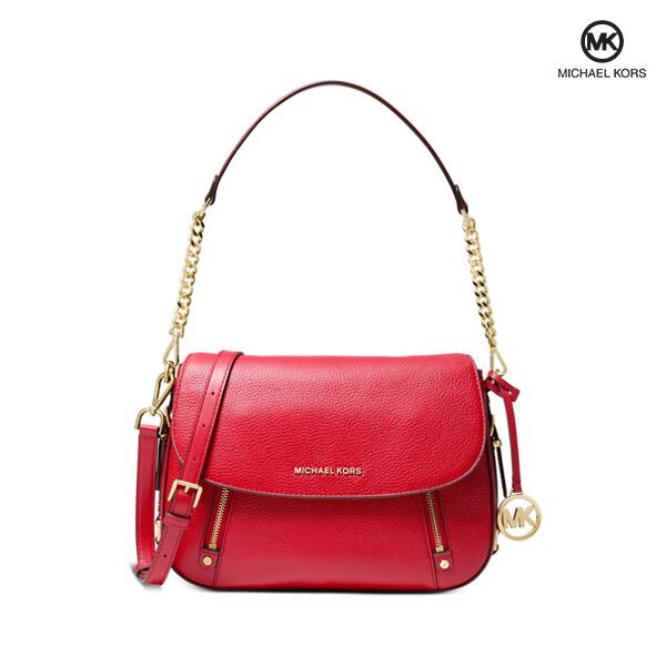 [타임세일~09/21까지]  Michael Kors 마이클 코어스 Bedford Legacy Medium Flap Shoulder Bag 숄더백 (Red)