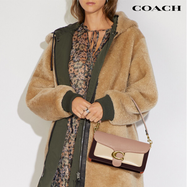 COACH 코치 Colorblock Tabby Shoulder Bag Taupe Ginger MultiGold 숄더백