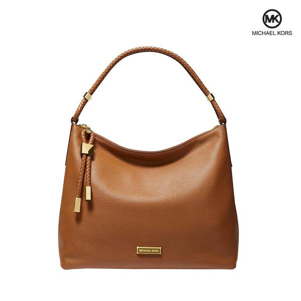 Michael Kors 마이클 코어스 Lexington large Leather pebbled Shoulder Bag 토트백 (Brown)