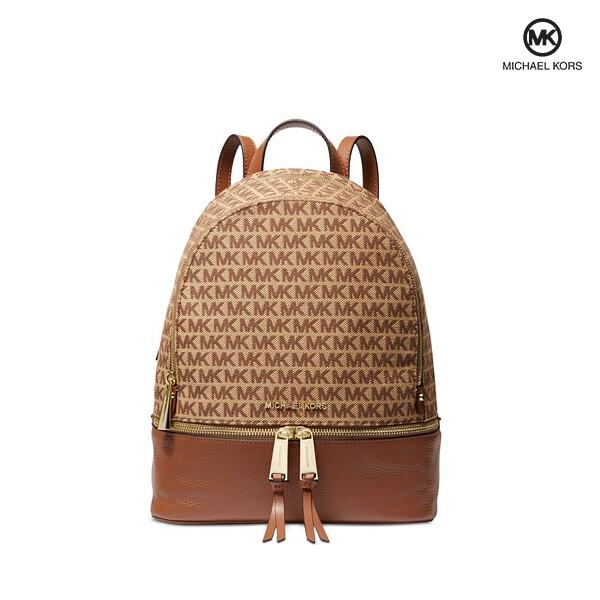 Michael Kors 마이클 코어스 Rhea Medium Logo Jacquard Backpack 백팩
