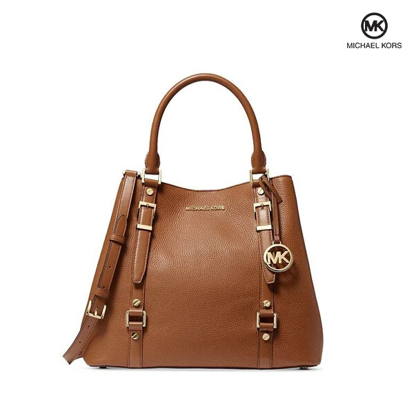 Michael Kors 마이클코어스 Bedford Legacy Large Grab Tote Luggage Gold Original 토트백 (Brown)