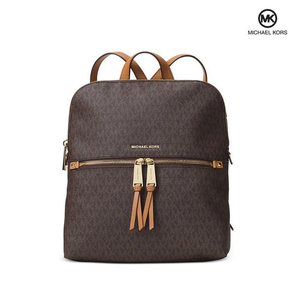 Michael Kors 마이클 코어스 Rhea Medium Slim Backpack Brown 백팩 (Brown)