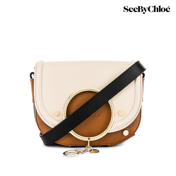 See by Chole 씨바이끌로에 Mara Shoulder Bag 숄더백 (Cement Beige/스트랩없음)