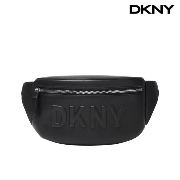 DKNY 디케이엔와이 Tilly Logo Fanny Pack 크로스백 (Black Silver)