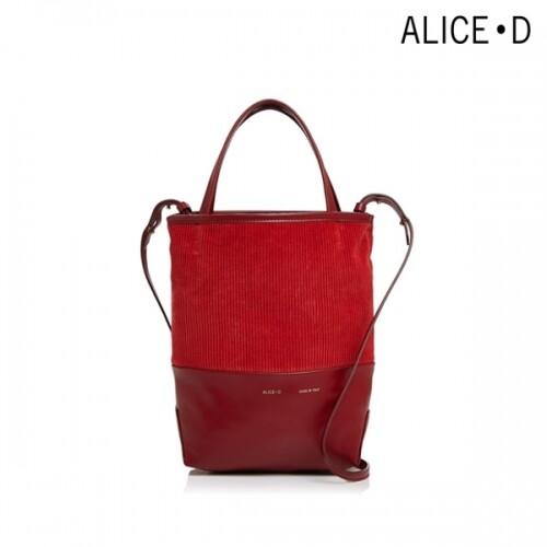 [타임세일~09/21까지]  ALICE·D 엘리스디 Small Velvet Leather Tote 토트백