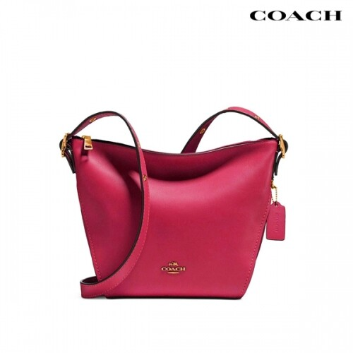 Coach 코치 Small Dufflette in Natural Calf Leather Dusty Pink 크로스백