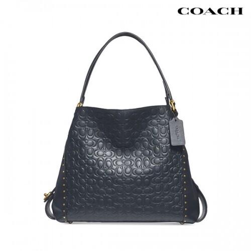 COACH 코치 Signature C Leather Rivet Edie 31 Shoulder Bag 숄더백