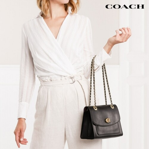 Coach 코치 Parker Leather Shoulder Bag black 숄더백