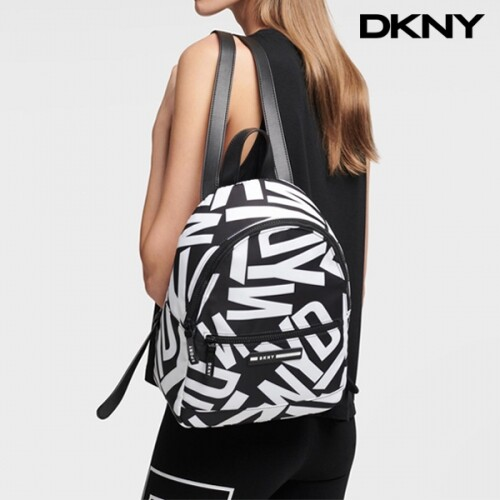 DKNY 디케이엔와이 Nora Black White Graphic Logo Backpack 백팩