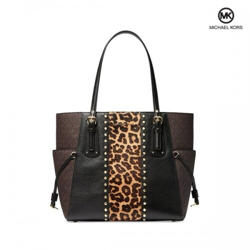 Michael Kors 마이클 코어스 Voyager East West Leapard Leather Tote 토트백