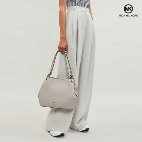 Michael Kors 마이클코어스 Silver-Tone Raven Large Silver Shoulder Bag 숄더백