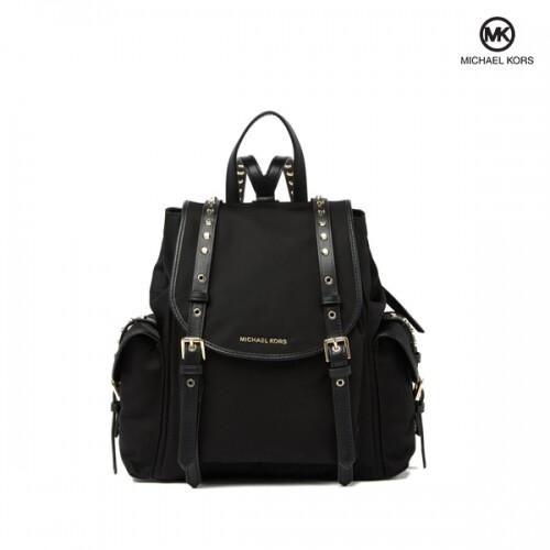 Michael Kors 마이클코어스 Small Flap Black Backpack 백팩