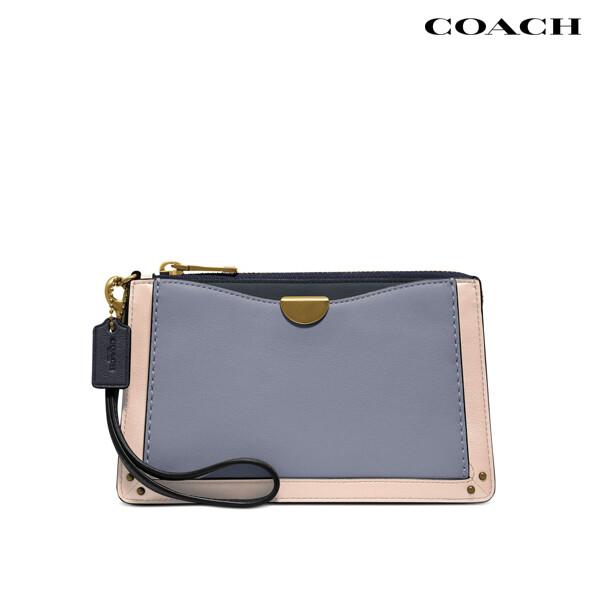 Coach 코치 Colorblock Dreamer Leather Wristlet 파우치백