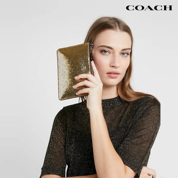 COACH 코치 Box Program Glitter Small 클러치