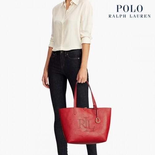[타임세일~09/21까지]  Polo Ralph Lauren 폴로랄프로렌 Merrimack Reversible Logo 토트백