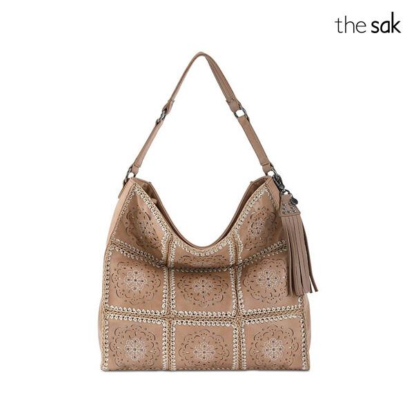 the sak 더삭 Barley Mandala Silverlake Leather Hobo 숄더백 (Brown)