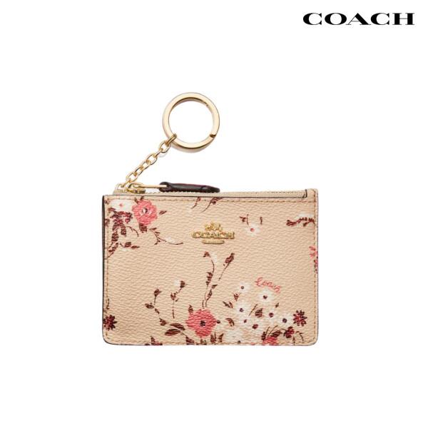 COACH 코치Mini Skinny Id Case With Floral 카드케이스