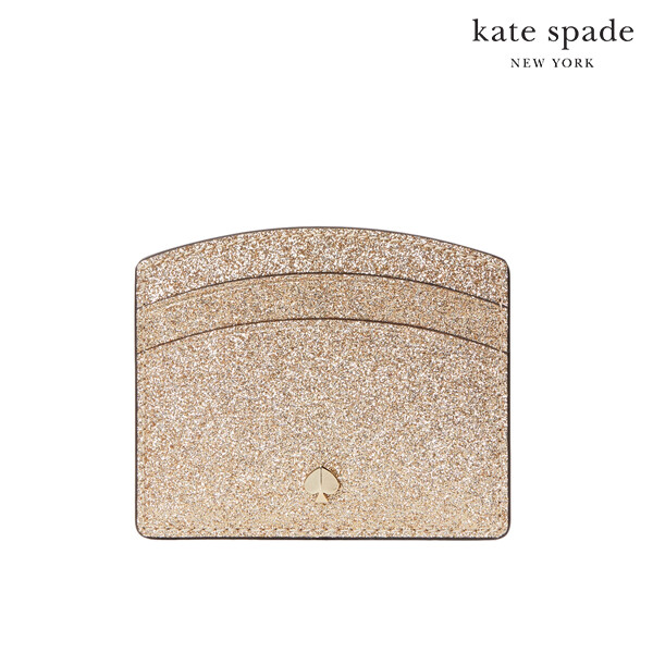 [블랙딜~11/30까지]  Kate Spade 케이트스페이드 New York Burgess Court Card Holder 카드지갑 (Gold)