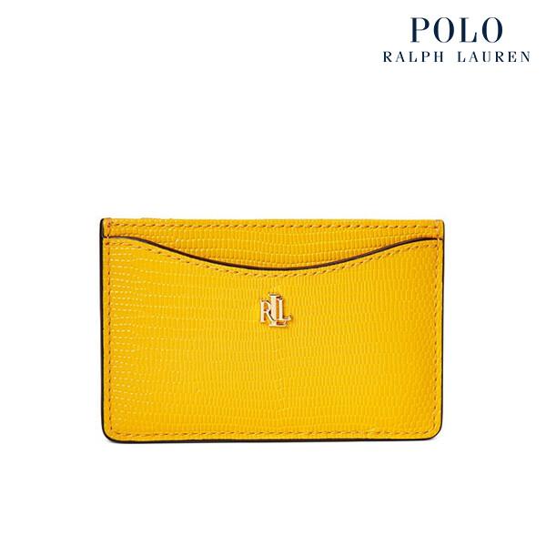 [타임세일~09/21까지]  Polo ralph lauren 폴로랄프로렌 Lizard-Embossed Slim Leather 카드 케이스