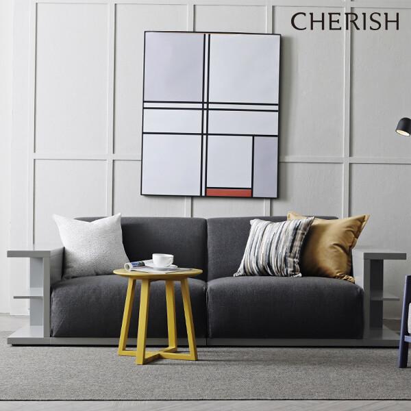 [라포레 컬러에디션] 체리쉬 보스코 패브릭 3인소파 다크그레이+그레이
