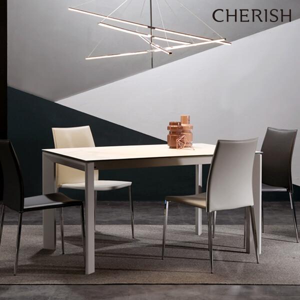 체리쉬 세라토2 스탠다드 세라믹 식탁 확장형 화이트(4~8인용 확장형 식탁)