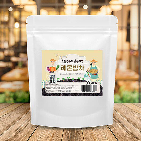 [타임세일~09/22까지]  웃는농부의 맑은티백 레몬밤차 100T (유통기한 :20/09/20까지)