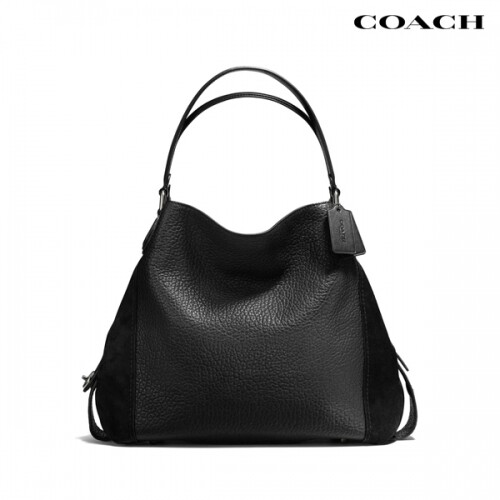 COACH 코치 Edie 42 Leather & Suede 숄더백