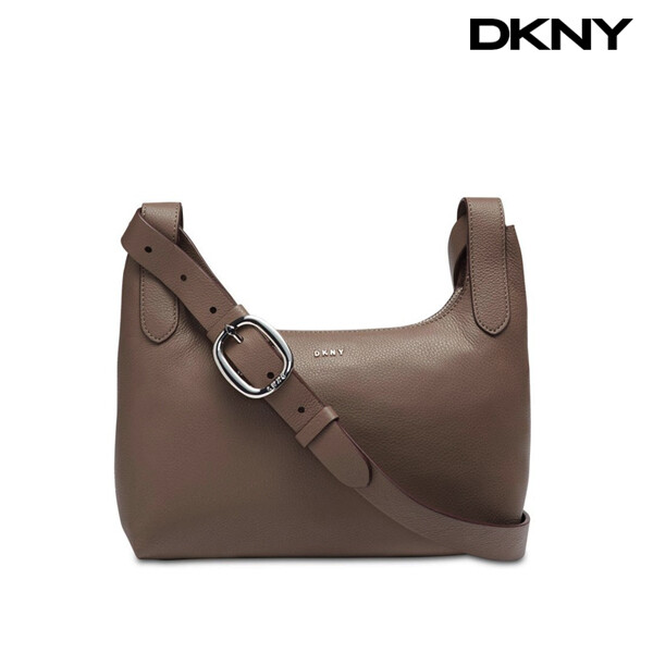 DKNY 디케이엔와이 Wes Pebble Leather Crossbody Desert silver 크로스백