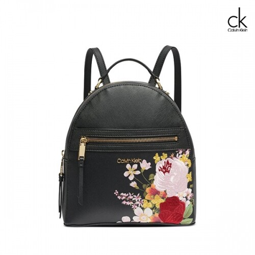 Calvin Klein 캘빈클라인 Mercy Floral Leather Backpack 백팩