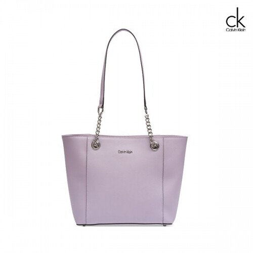 Calvin Klein 캘빈클라인 hayden saffiano leather East Tote 토트백 (Purple)