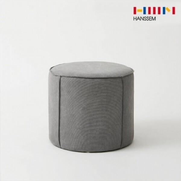 한샘 하임 원형 패브릭 스툴(라이트 그레이)