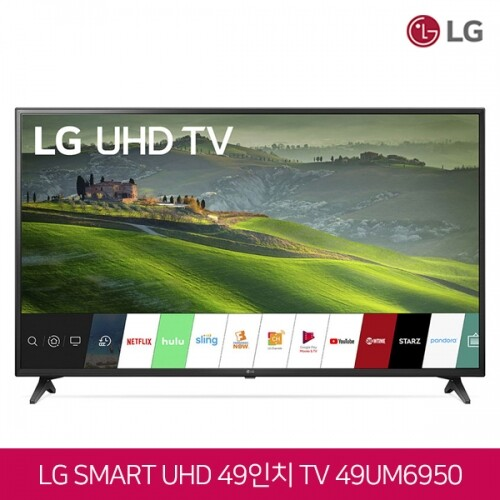 LG전자 49인치 4K UHD HDR 스마트TV 49UM6950 수도권 무료배송 설치!