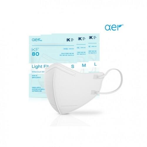 아에르 스탠다드 라이트핏 보건용 마스크 KF80 소형 2매 15개입 (총30매)