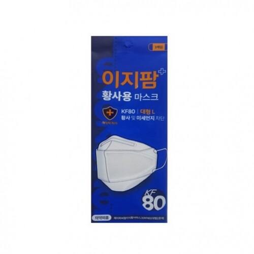 이지팜 황사 미세먼지 마스크 KF80 대형 흰색 10매입