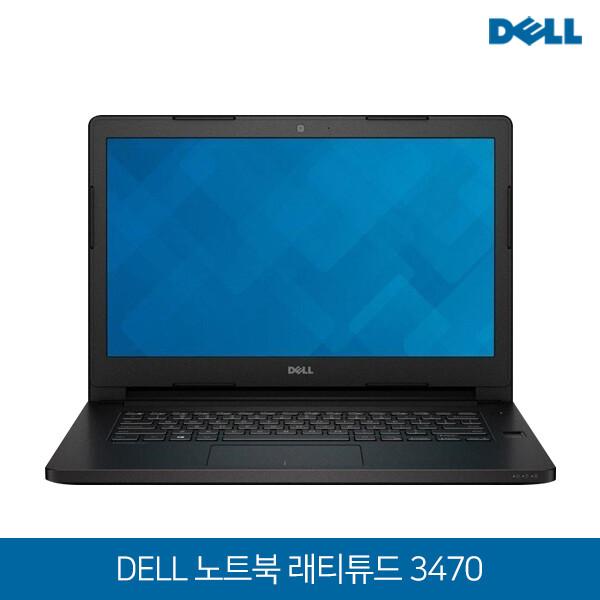 DELL 노트북 Latitude 3470 블랙 (코어i3 6100U 2.30G/램4G/SSD128G/Intel HD520/웹캠/무선랜/14.1 FHD 1920*1080/윈도우10)