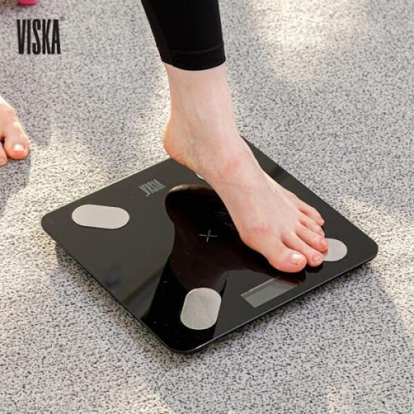 [깜짝세일~10/20까지]  독일기술력 비스카 블루투스 스마트 체중계 (모델명:VK-S2 / 블랙색상)
