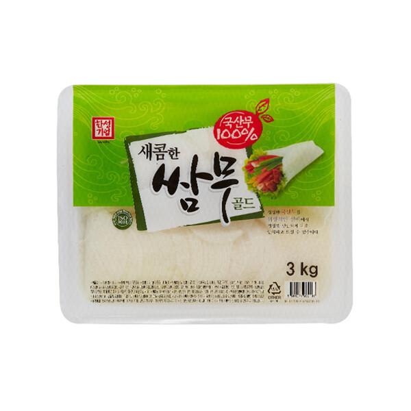 한성 새콤한 쌈무 골드 3kg (상온보관/유통기한 제조일로부터 6개월)