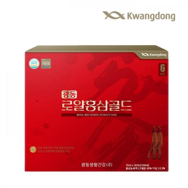 광동 로얄홍삼골드 70ml x 30포(쇼핑백 포함)
