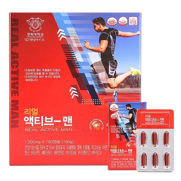 경희 리얼 액티브-맨 1,000ml x 180캡슐(쇼핑백 포함)