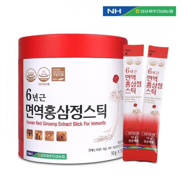 김포파주인삼농협 6년근 면역홍삼정스틱 10g x 100포(쇼핑백 포함)